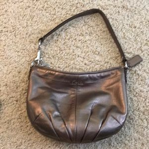 Coach small metallic purse
